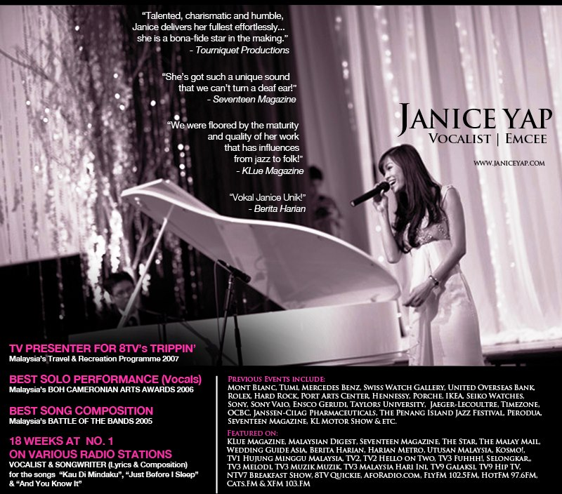 Janice Yap Why Take Vocal Training